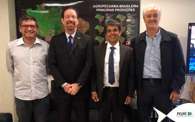 Peixe BR se reúne com a Embrapa em Brasília