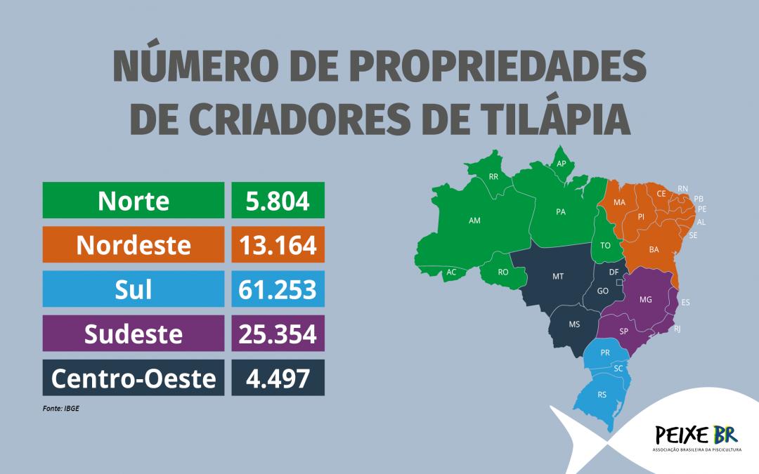 Carpa e Tilápia são os peixes de cultivo em mais propriedades rurais no país, mostram dados preliminares do Censo Agropecuário do IBGE