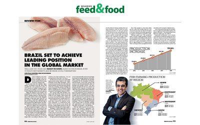 A Peixe BR está na edição internacional da Revista feed&food de janeiro